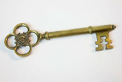 Vintage Big Ornate Brass Key 9 inch