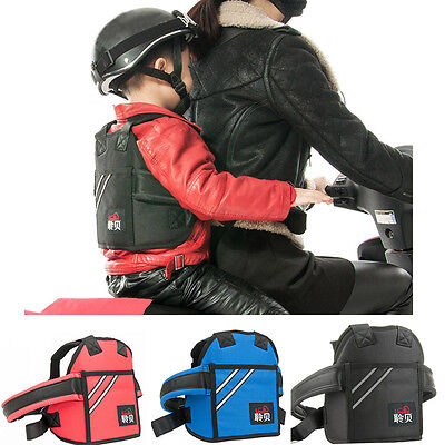 Motorcycle Seat Children Safety Harness  Strap Back Support Belt Protective Gear