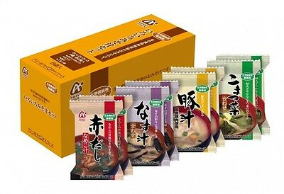 Amano Foods Chemical Seasoning Additive-Free Variety Instant Miso Soup 8 pcs set