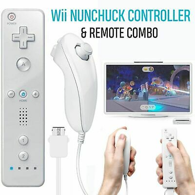 wii remote controller and nunchuck for nintendo wii u console white