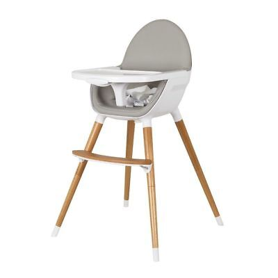 Childcare Pod Timber High Chair + Free Squeeze Baby Feeding Spoon
