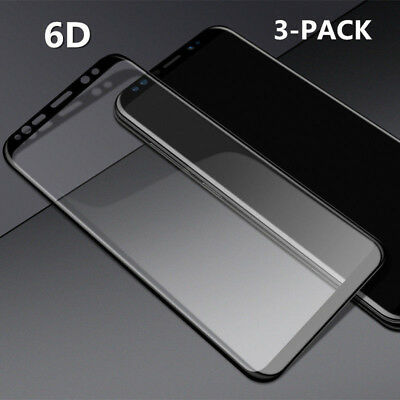3X Premium 6D TEMPERED GLASS SCREEN PROTECTOR FR SAMSUNG S8 S9 Plus Note 8 LOT G