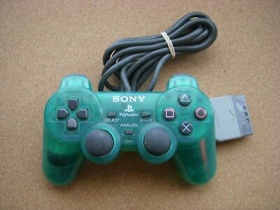 Sony Official Dual Shock Controller pad clear green Playstation SCPH-1200 japan