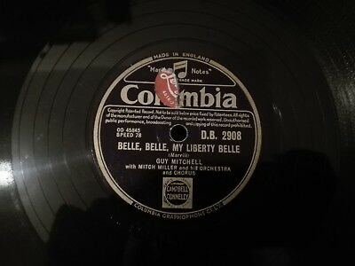 78tours Guy Mitchell My Liberty Belle / Sweetheart Of Yesterday Columbia DB2908