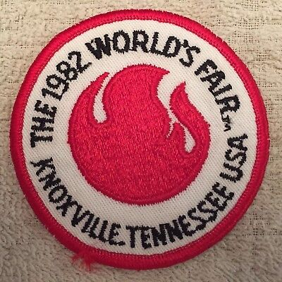 "The 1982 World's Fair. Knoxville, Tennesse 3"" Round Iron On Patch."
