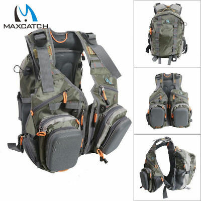 Maxcatch V-SBS Fly Fishing Vest Mutiple Function Backpack Bag For Outdoor sports
