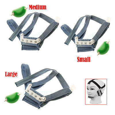 Dental Orthodontic High - Pull Headgear With Rigid Chin Cap - Large Medum Small