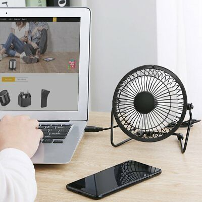USB FAN Metal PORTABLE COOLING DESK QUIET FAN FOR COMPUTER LAPTOP PC