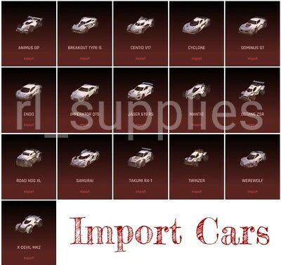 All Import Cars 99p - Rocket League Xbox One Choose Below IN STOCK
