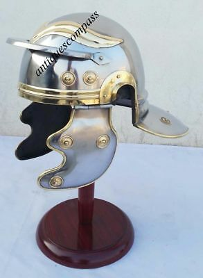Ancient Armor Armour Medieval Roman Centurion Trooper Helmet with leather liner