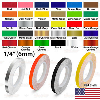 """1//4/"""" Roll Vinyl Pinstriping Pin Stripe Solid Line Tape Decal Sticker 6mm TEAL"""