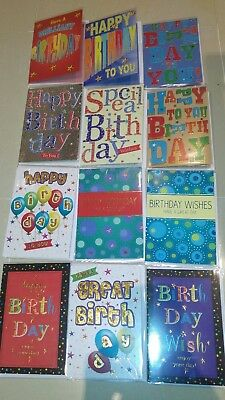 BIRTHDAY CARD BUNDLE MIXED GREETING CARDS 6 Cards Or 12 MALE FEMALE UNISEX