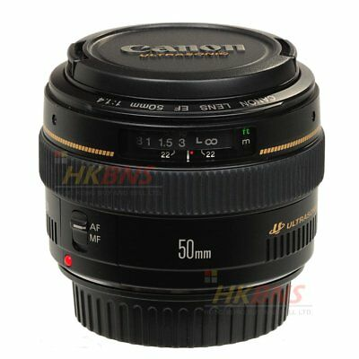 Canon EF 50mm f/1.4 USM Lens 50 f1.4 for 6D 5D Mark II III 5DS R 7D 80D ~ Nuovo