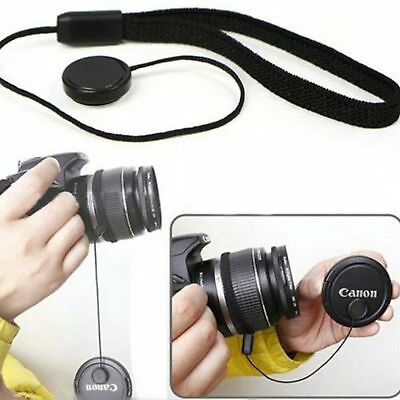 Lens Cover Cap Holder Keeper String Leash Strap Rope For Canon Nikon Camera