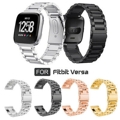 Replacement Stainless Steel Wrist Band Watch Strap Bracelet for Fitbit Versa New