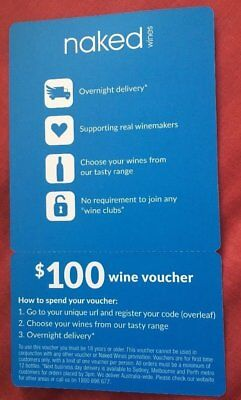 Naked Wines $100 Wine Voucher, $100 Gift Card Real Winemakers, nakedwines.com.au