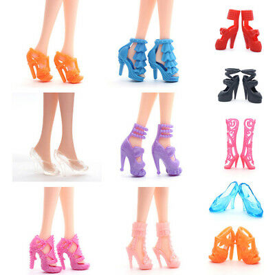 10 pairs Colorful Doll Accessory Shoes For Monster High Doll High Heel Popular