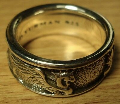 DAVID YURMAN Mens Size 8.75 Sterling Silver Band - Mythical Dragon or Griffin