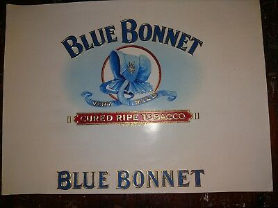 BLUE BONNET CIGAR Box Label INNER Original c1930's