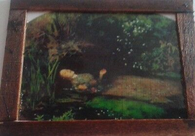 Dolls House  A lovely Pre Raphalite painting 'Death of Ophelia'