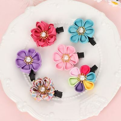 6Pcs/Set Barrettes Cherry Flower Multicolor Hairpins Set Girls Hair Clips