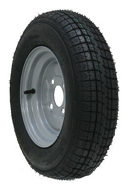 "10"" inch trailer wheel & tyre 145R10 radial 430kgs 84/82N 4 stud 100mm pcd"