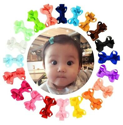 2 ch Small Toddlers Hair Bows Clips Baby Barrettes For ft Fe Hair Tie 20Pcs
