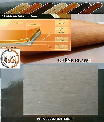 covering adhesif BOIS CHENE BLANC - thermoformable - (film en largeur de 1.22 m)