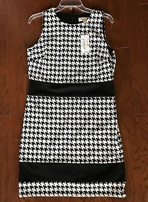 c11634075ae MICHAEL MICHAEL KORS  150 NWT Houndstooth Ecru Sleeveless Dress Size 12  Dillards
