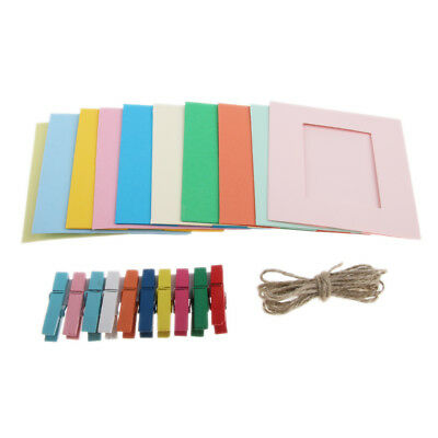 10 Piece Clip Wall Hanging Frame for INSTAX MINI Photos with Pegs and Twine