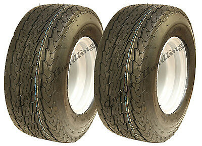 2 - 16.5x6.50-8 trailer tyre on rim 6ply high speed road legal mower golf pair