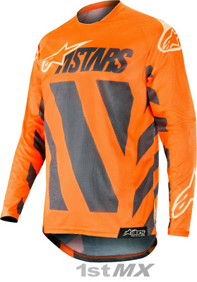 2019 Alpinestars Racer BRAAP Grey Orange Sand MX Race Motocross Jersey Adults