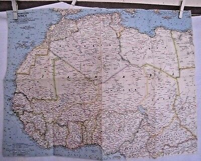 1966 National Geographic Map - Northwestern Africa  - 24 x 19 inches