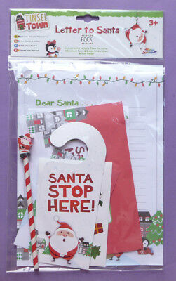 Letter to santa pack childrens north pole snowman write your own letter to santa pack father christmas xmas pencil door hanger kids children new spiritdancerdesigns Images