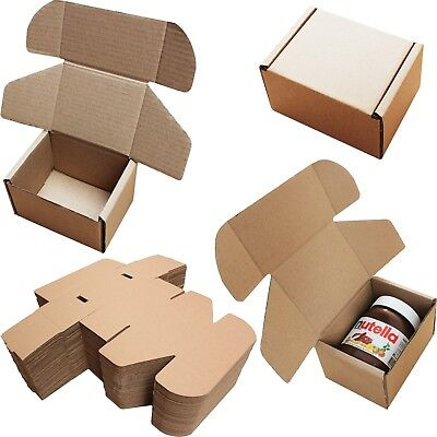 "5x4x3"" SHIPPING STORAGE BOXES CARDBOARD POSTAL MAILING GIFT PACKET SMALL PARCEL"