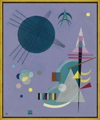 Mit Und Gegen Abstract art Poster Wassily kandinsky inner beauty colorful focal