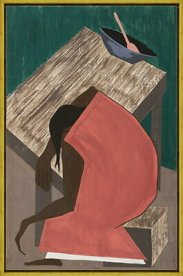 Framed Jacob Lawrence Untitled Giclee Canvas Print Paintings Poster Reproduction