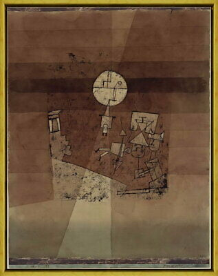 Framed Paul Klee Moon play Giclee Canvas Print Paintings Poster Reproduction