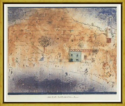 Framed Paul Klee Bay M.on Sicily Glance Giclee Canvas Print Paintings Poster