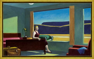 Framed Edward Hopper Western Motel Giclee Canvas Print Paintings Poster