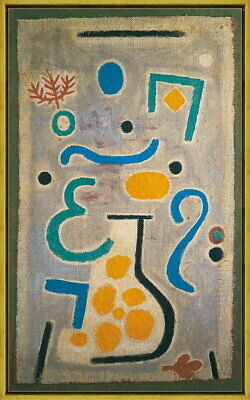 Framed Paul Klee The Vase Giclee Canvas Print Paintings Poster Reproduction