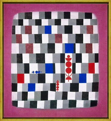 Framed Paul Klee Super-Chess Giclee Canvas Print Paintings Poster Reproduction