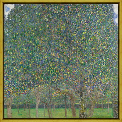 Gustav Klimt Rosebushes under The Trees Giclee Canvas Print Paintings Poster Rep