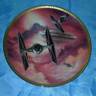 STAR WARS Space Vehicles TIE FIGHTERS Cloud City 1647D w/ COA Plate Collection