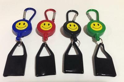 Lot Lighter Leash Keychain Clip Smiley Au