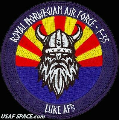 USAF 62nd FIGHTER SQ -ROYAL NORWEGIAN AIR FORCE- F-35 LIGHTNING II - ORIG. PATCH