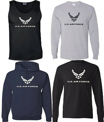 NEW! US AIR FORCE American Military Forces T-shirts Sweatshirts Tank Top S-3XL