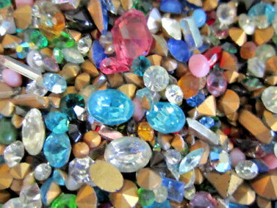 ☆~300 Pc.LOT! GLASS GEMSTONES For CRAFTING/HIGH Quality-U.S SELLER FAST S&H~☆