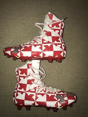Under Armour Highlight Maryland Lacrosse Football Cleats Men 9.5 New