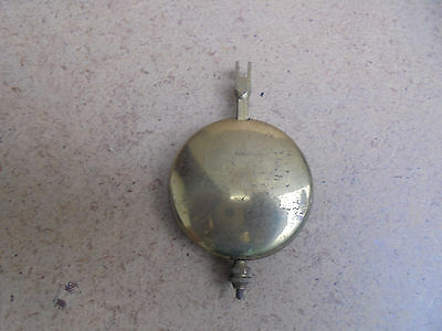 gold coloured metal mantle clock pendulum - spares parts